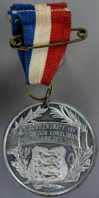 1919 WWI Peace Medal 41mm victorious conclusion of the Great War - White metal