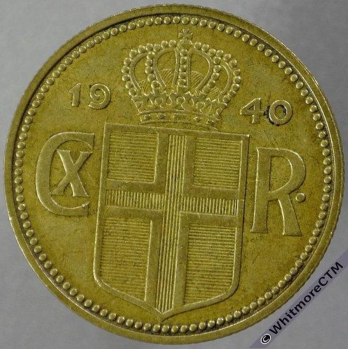 1940 Iceland 2 Krona Y7 obv