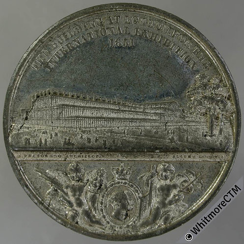 1851 Crystal Palace List of dimensions Medal 45mm B2423 by Allen & Moore WM