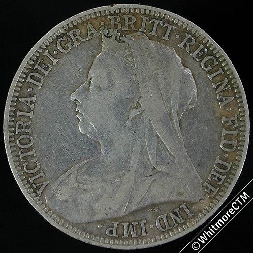 1899 British Victoria Veiled Head Florin 2/-