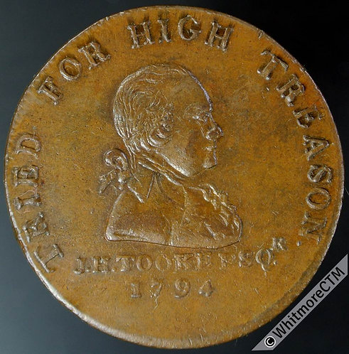 18th Century Halfpenny Middlesex 1045a 1794 J.H.Tooke - Usual reverse weakness
