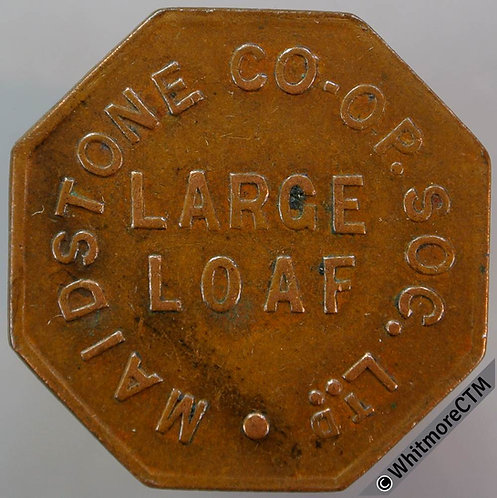 Co-Operative Society Token Maidstone 28mm Large loaf  Octagonal bronze