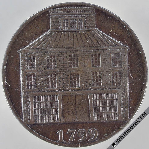 18th Century Halfpenny Dublin 347 1799 View of Building. Payable at the Pantheon