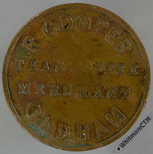 Unofficial Farthing Token Oldham 4191 (4200) R.Cooper. Tea & Coffee Merchant