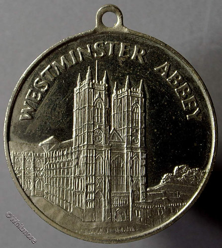 1970 Westminster Abbey restoration Medallion 32mm Containing lead taken from Abbey