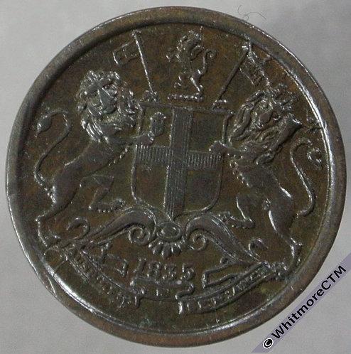1835B India 1/12th Anna Y35 S&W 1.102 obv
