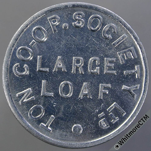 Co-Operative Society Token Ton Pentre Mid Glamorganshire XC205 25mm Large loaf