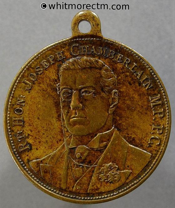 1902-3 South Africa Commemorate the visit Joseph Chamberlain Medal 24mm