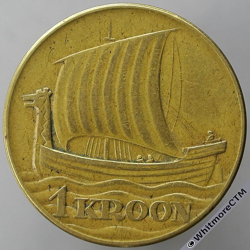 1934 Estonia 1 Kroon Y15