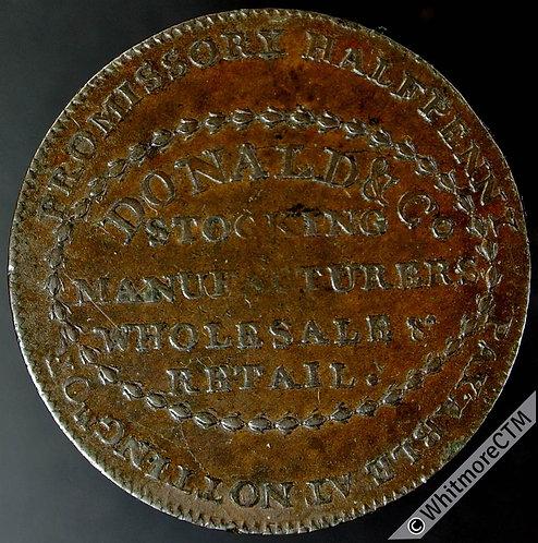 18th Century Halfpenny Birmingham 123 1792 Donald & Co Beehive & bees Plain edge
