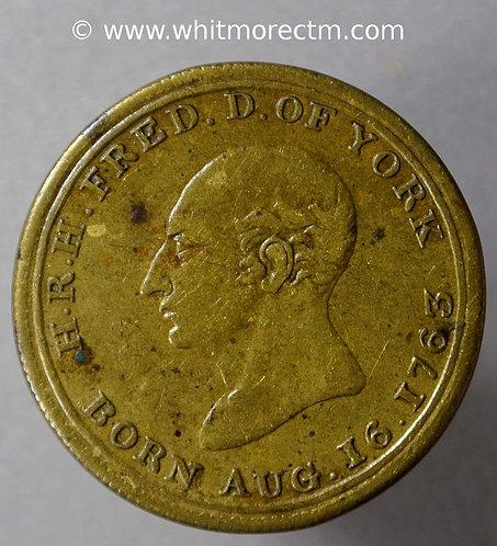1827 Death of Duke of York Medallion 25mm B1295 Extremely rare