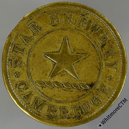 Cambridge Inn / Pub Token Star Brewery. Star depicted / 2D By Ardill