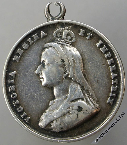 1901 Death of Queen Victoria Medal 24mm Silver, Not in Whittlestone