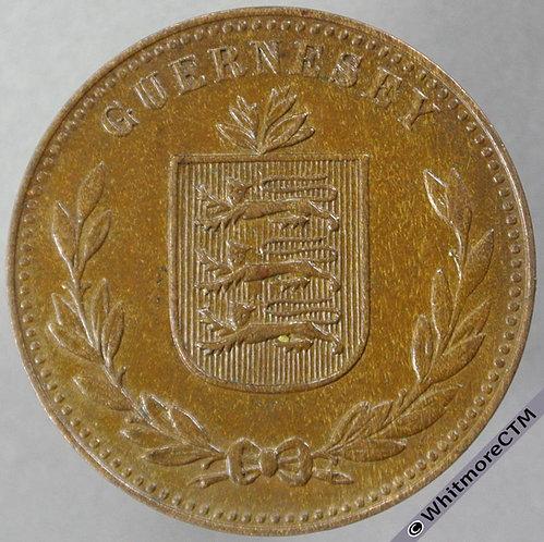 1947H Guernsey 8 Doubles E98 obv