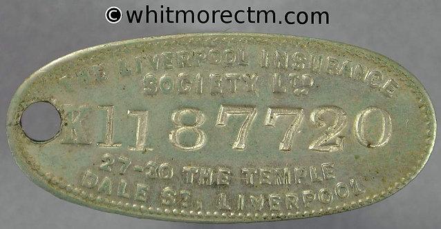 Liverpool Insurance Society Ltd 34x15mm Misc Token 5/- Reward - Dale Street