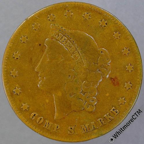 USA 20 Dollar Spiel Munze token 34mm Brass - Rogers 2440