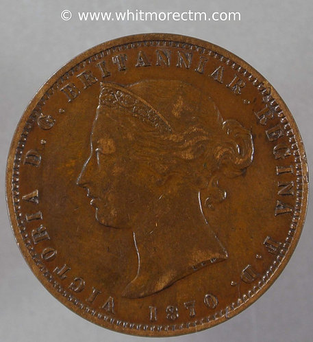 1870 Jersey One Thirteenth of a shilling coin obv
