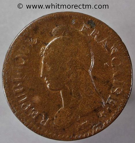 France C137 1 Decime coin L'an 7 A