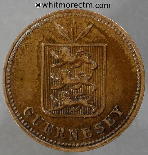 1911H Guernsey 2 Doubles coin obv - E73