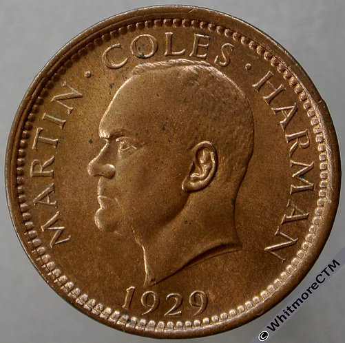 1929 Lundy Half Puffin Y1 - 80% Luster
