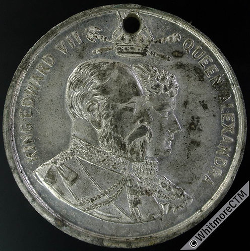 Rochester 1902 Edward VII Coronation Medal 38mm B3823 by Willis. White metal.