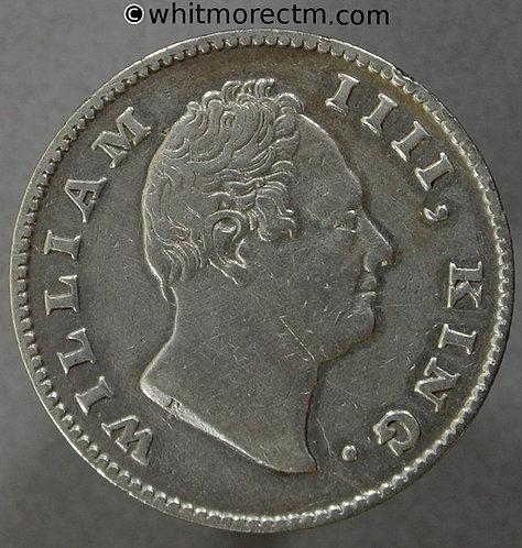 1835 British India Half Rupee coin obv - 19 Berries F incuse S&W 1.55
