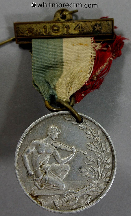1914 National Union of School Orchestras Festival Medal 31mm Aluminium Pierced