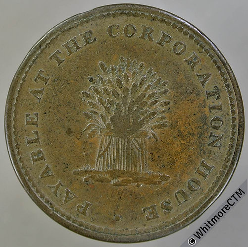 19th Century HalfPenny Tunsted & Happing 1141 1812 Wheatsheaf. Corporation House