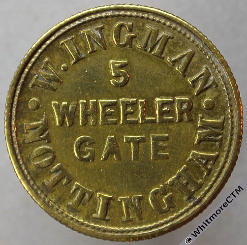 Unofficial Farthing Nottingham 4097 W.Ingman. Victoria Y.H. (Not V74) - Ex Rare