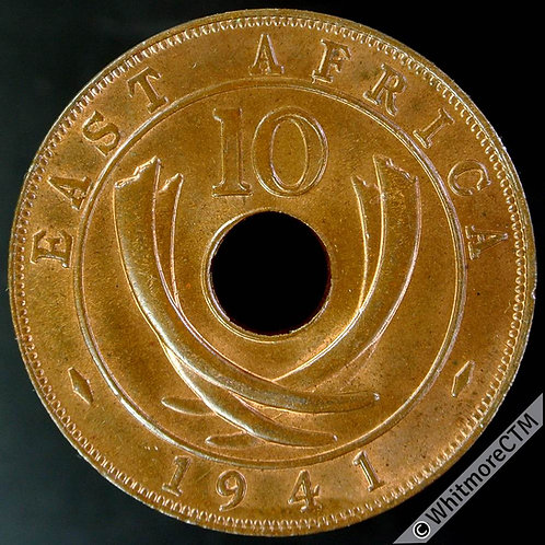 1941 I British East Africa 10 Cent Y29 - 30% Luster