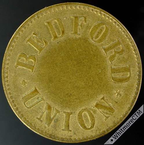 Ticket Pass Token Bedford Union 27mm Wheatsheaf