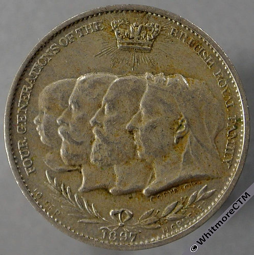 1897 Diamond Jubilee Queen Victoria Medal obv 21mm like B3539 and similar to TE6
