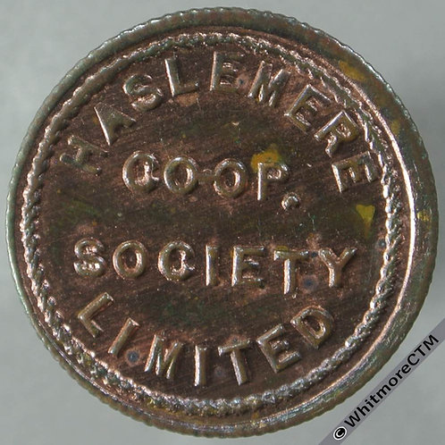 Co-Operative Society token Haslemere 22mm £1 By Ardill. Leeds - Copper