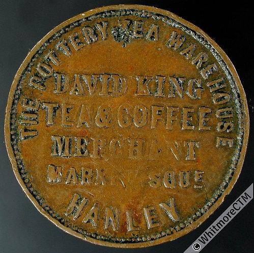 Unofficial Farthing Hanley 1750 David King. Tea & Coffee merchant.