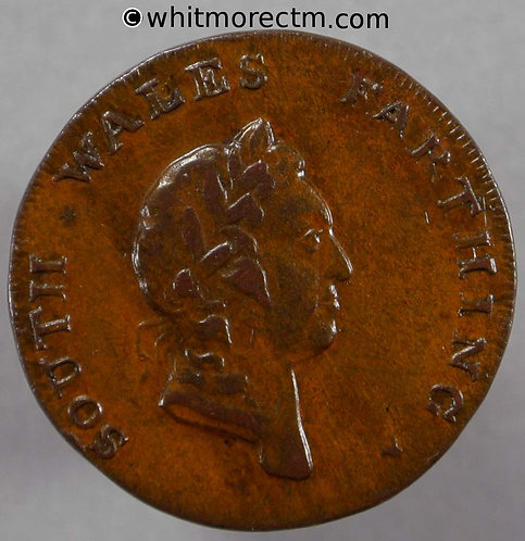 18th Century Farthing South Wales 26a 1793 plain edge