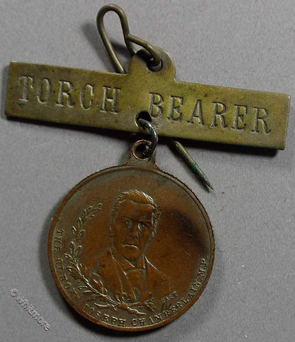 Birmingham 1902 Joseph Chamberlain Medal 22mm South Africa - Bronze By Sale