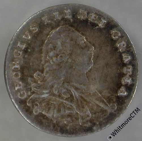 1792 George III Maundy 1d - wire money