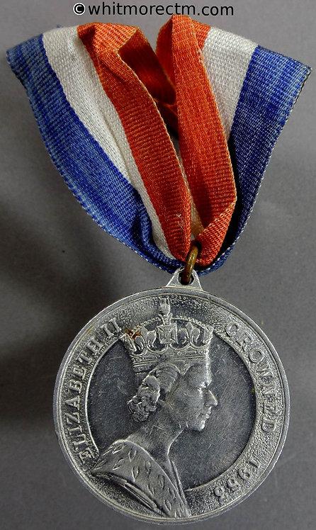 1953 Coronation of Queen Elizabeth II Medal obv 39mm WE8107A Aluminium