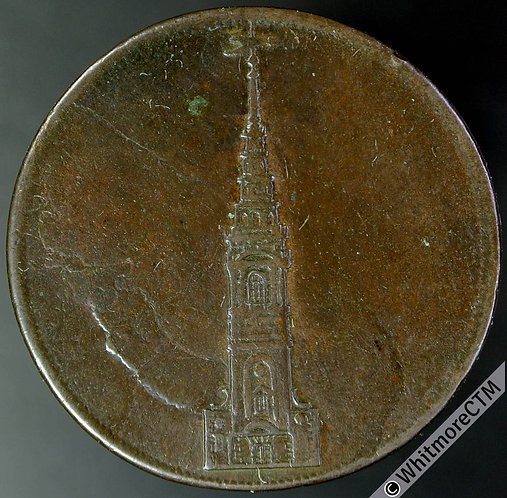 18th Century Halfpenny Middlesex 583 Bis 1801 Constitutional Society. Edge Knock
