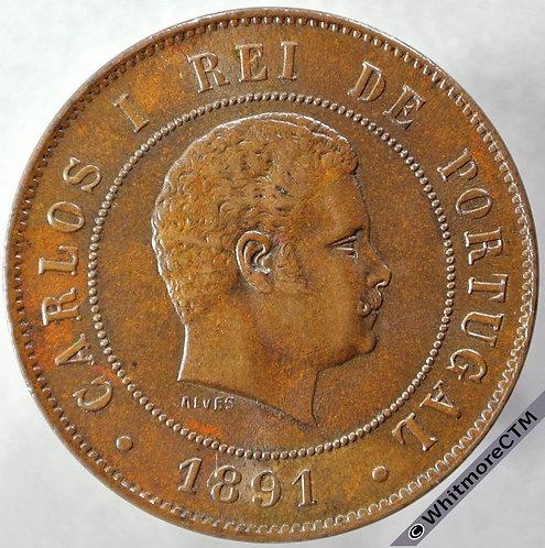 1891 Portugal 20 Reis obv - Y17