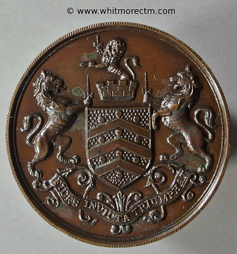 Gloucester Golf Union medal 33mm / City Arms. Bronze