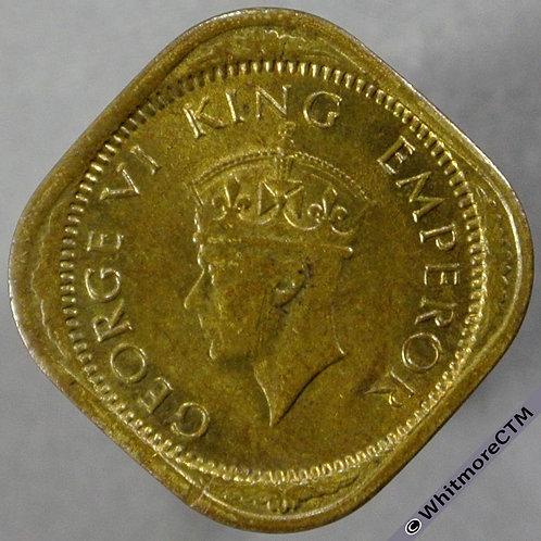 1943B India Half Anna S&W 9.200 obv