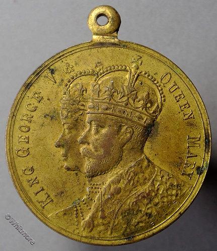 1911 Australia Victoria Coronation of George V Medal 31mm C22 Gilt bronze obv