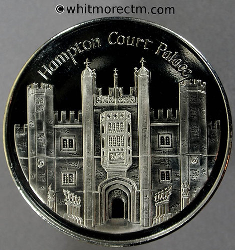 Hampton Court Palace Souvenir Medal 38mm - Cupro Nickel  Proof about FDC