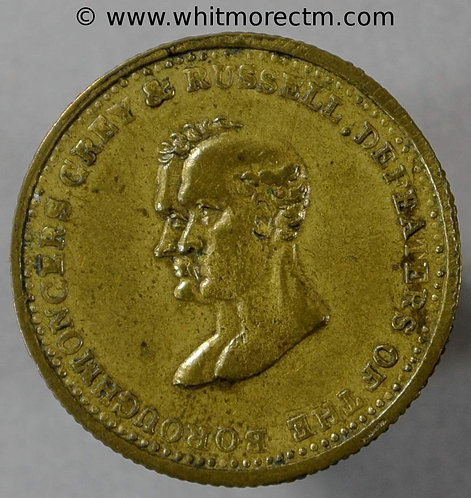 1831 Champion of Reform Medal 22mm William IV Grey & Russell B1530