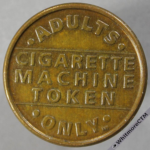 Miscellaneous Token Cigarette Machine Token 21mm Adults only - Same both sides