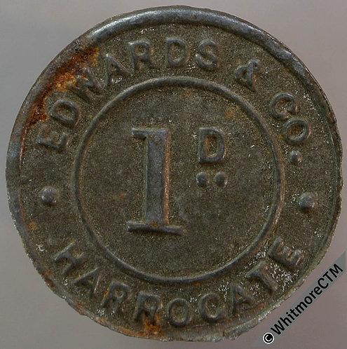 Value Stated Token Harrogate 23mm 1D Edwards & Co. Bracteate iron