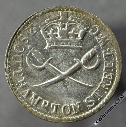 Armed Forces Token London The Regiment 1d Weekly 11mm. Silver - as Maundy Penny - obv