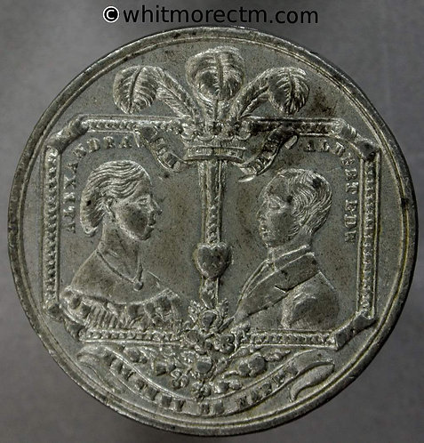 1863 Marriage of Prince of Wales Medal 33mm WE930 White metal Rare unpierced