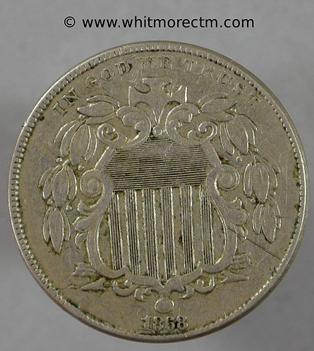 1868 USA Five Cents coin